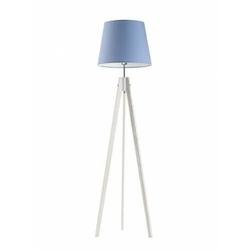 Lampa podłogowa aruba abażur niebieski stelaż biały - niebieski