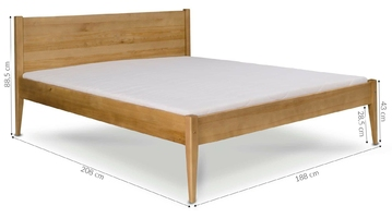 Łóżko drewniane cresto 180x200 wiele kolorów
