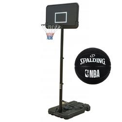 Zestaw kosz do koszykówki przestawny + piłka spalding nba basketball