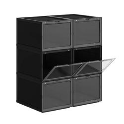 Pudełko organizer na buty zestaw 6 sztuk - lsp06bk