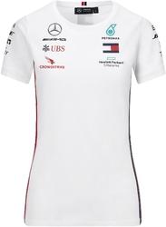 Koszulka damska mercedes amg petronas f1 2020 biała - biały