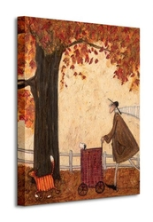 Following the pumpkin - obraz na płótnie