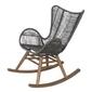 Miloo ::  fotel ogrodowy bujany parado szary