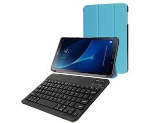 Etui book cover samsung galaxy tab a 10.1 niebieskie klawiatura - niebieski