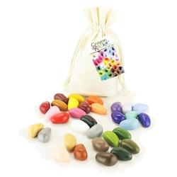 Crayon rocks - kredki w bawełnianym woreczku - 32 kolory