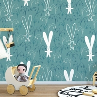 Tapeta dziecięca - rabbit ears , rodzaj - próbka tapety 50x50cm