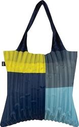 Torba loqi plisowana niebiesko-żółta