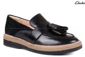 Buty damskie clarks czarne półbuty mokasyny - dobierz buty do torebki