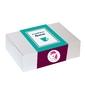Zestaw prezentowy na wyjątkową okazję box for girls. herbata owocowa berry flamingo 230g, rooibos brownie 150g, kubek z zaparzaczem w urocze jednorożce oraz kolorowe czekoladki