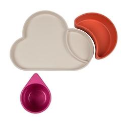 Zestaw obiadowy tum tum  - eco chmurka pink
