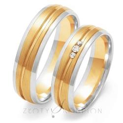 Obrączki ślubne złoty skorpion – wzór au-oe209