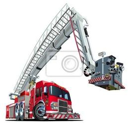 Naklejka cartoon truck vector ogień