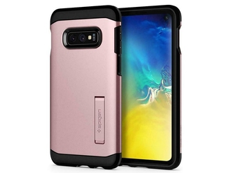Etui spigen tough armor samsung galaxy s10e rose gold + folia neo flex - różowy
