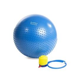 Piłka gimnastyczna masująca yb03 55 cm niebieska - hms
