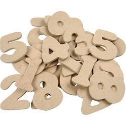 Drewniane cyfry do rękodzieła - zestaw 30 szt.