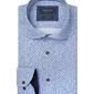 Błękitna koszula profuomo w krzyżyki slim fit 40