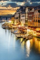 Fototapeta grand canal w nocy, wenecja
