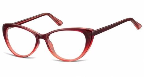 Oprawki korekcyjne kocie oczy zerówki sunoptic cp138b gradient burgundowy