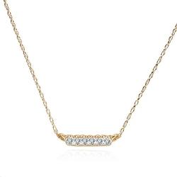 Staviori naszyjnik 43cm. 6 diamentów, szlif brylantowy, masa 0,06 ct., barwa h, czystość si1-si2. żółte złoto 0,585. szerokość 12 mm. wysokość 1,2 mm. grubość 1 mm.  długość regulowana 40cm lub 43cm.