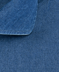 Koszula jeansowa slim fit ciemnoniebieska 43