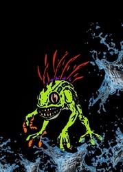Blizzardverse stencils - murky, the deep terror, warcraft - plakat wymiar do wyboru: 30x40 cm