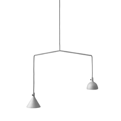 Lampa wisząca szara cast shape 4 menu