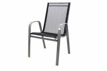 Zestaw dwóch krzeseł ogrodowych antracyt