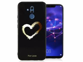 Etui Alogy Glass Armor Case do Huawei Mate 20 Lite czarne serce - Serce