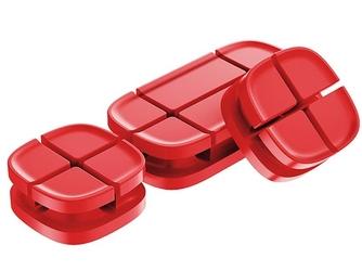 Baseus organizer do kabli cross peas cable clip czerwony - czerwony