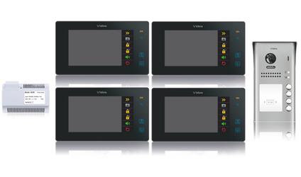 Wideodomofon 4-rodzinny VIDOS DUO 4 x M1021B  S1104A - Szybka dostawa lub możliwość odbioru w 39 miastach