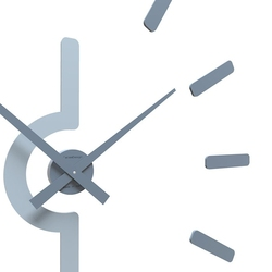 Zegar ścienny masaccio calleadesign szara śliwka 10-318-34