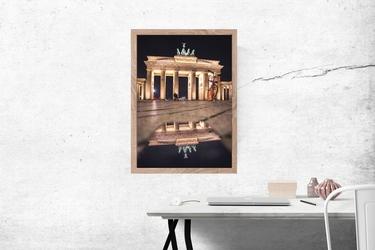 Berlin brama - plakat premium wymiar do wyboru: 59,4x84,1 cm