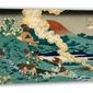 Poem by kakinomoto no hitomaro, hokusai - obraz na płótnie