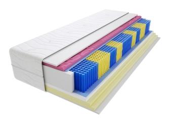 Materac kieszeniowy zefir molet multipocket 130x185 cm miękki  średnio twardy 2x visco memory