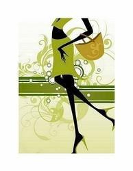 Shopping girl - reprodukcja