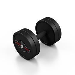 Hantla stalowa gumowana 15 kg czarny mat - marbo sport - 15 kg