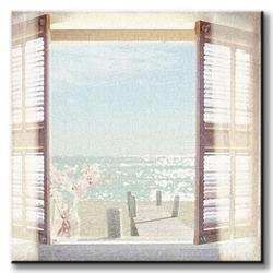 View through shutters - obraz na płótnie