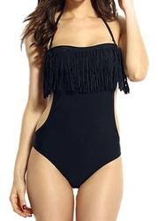 Jednoczęściowy strój kąpielowy frędzle
