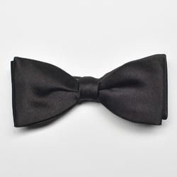 Czarna mucha jedwabna satynowa wiązana - 5cm