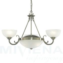 Windsor lampa wisząca 5 patyna szkło