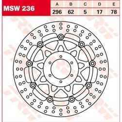 Trw tarcza hamulcowa trw msw236 honda cbr, gl 1800