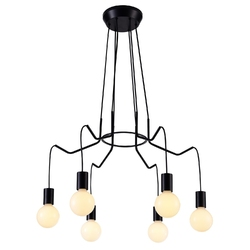 Lampa wiszące żarówki na czarnych przewodach basso candellux 36-71033