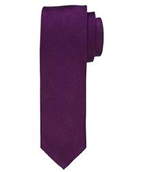 Krawat jedwabny w kolorze oberżyny