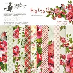 Papier świąteczny do scrapbookingu Rosy Cosy Christmas 15,3x15,3 cm - zestaw