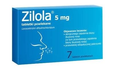 Zilola 5mg x 7 tabletek