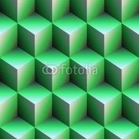 Obraz na płótnie canvas czteroczęściowy tetraptyk zielone kostki