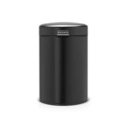 Brabantia - kosz ścienny newicon - 3 l - plastikowe wiadro - czarny matowy - czarny