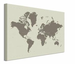 Mapa Świata - obraz na płótnie