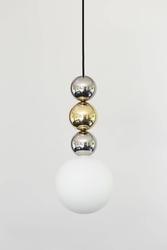 Loftlight :: lampa wisząca bola bola 3 srebrno-złota wys. 27 cm