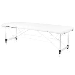 Stół składany do masażu aluminiowy komfort 2 segmentowe white